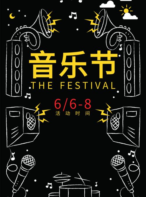 粉笔画音乐节海报