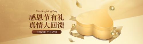 金色感恩有礼回馈活动促销PC端banner