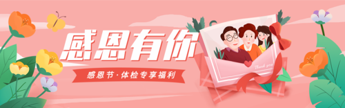 清新风感恩节回馈活动促销推广banner