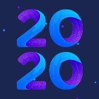蓝色简约2020新年公众号推送小图